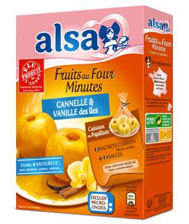 Alsa Produit Fruits au Four Minutes Cannelle et Vanille des isles