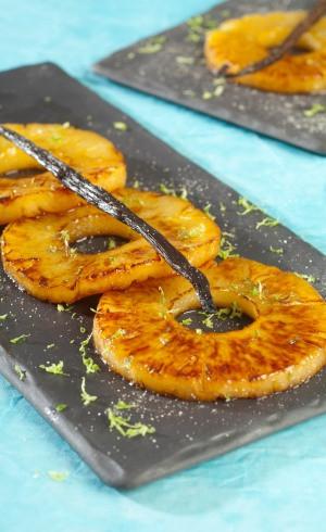 Ananas chaud à la vanille