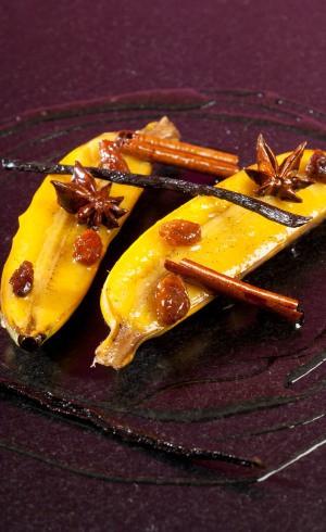 Bananes flambées vanille