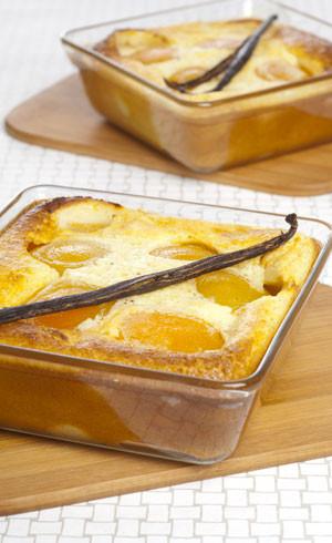 Clafoutis aux abricots et à la vanille