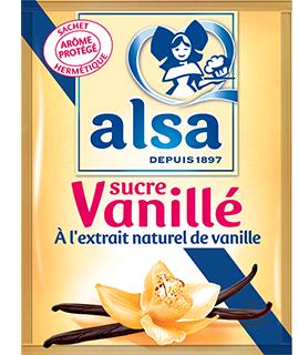 Alsa Produit Sucre Vanillé à l'extrait naturel de vanille