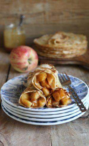 Crêpes pomme-caramel