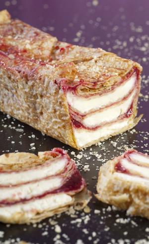 Cake de crêpes facon tiramisu aux fruits rouges