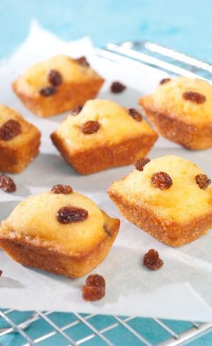 Petits cakes aux raisins