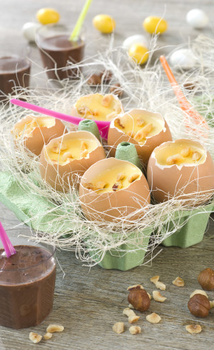 Crème vanille en œuf