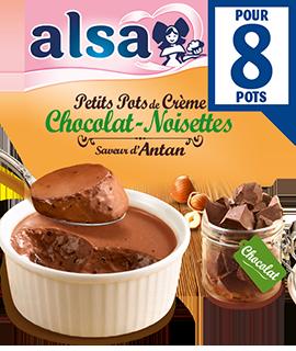 Petits pots de crème Chocolat-Noisettes