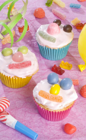 Cupcakes bonhommes