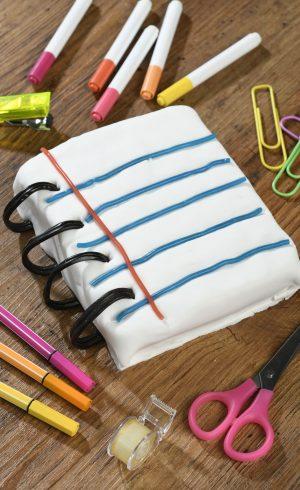 Gâteau Cahier