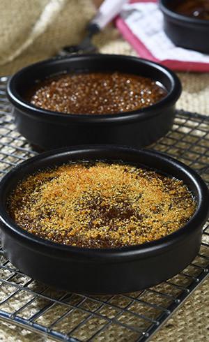 Crème brulée au cacao
