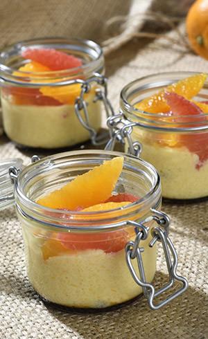 Gâteau de semoule agrumes & Fleur d'oranger
