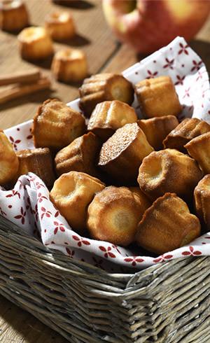 Mini cannelés pommes-cannelle