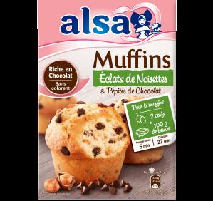 Muffins Éclats de Noisettes & Pépites de Chocolat